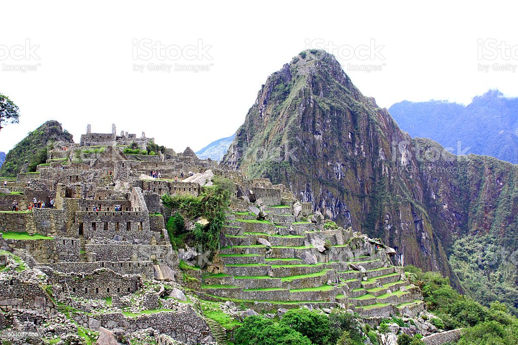 Machu Picchu panorama overview. Peru stock photo
