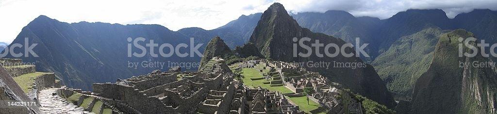 Machu Picchu Panorama royalty-free stock photo