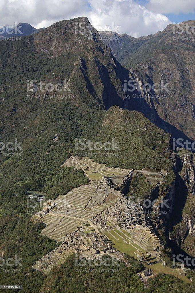 Machu Picchu ruins royalty-free stock photo
