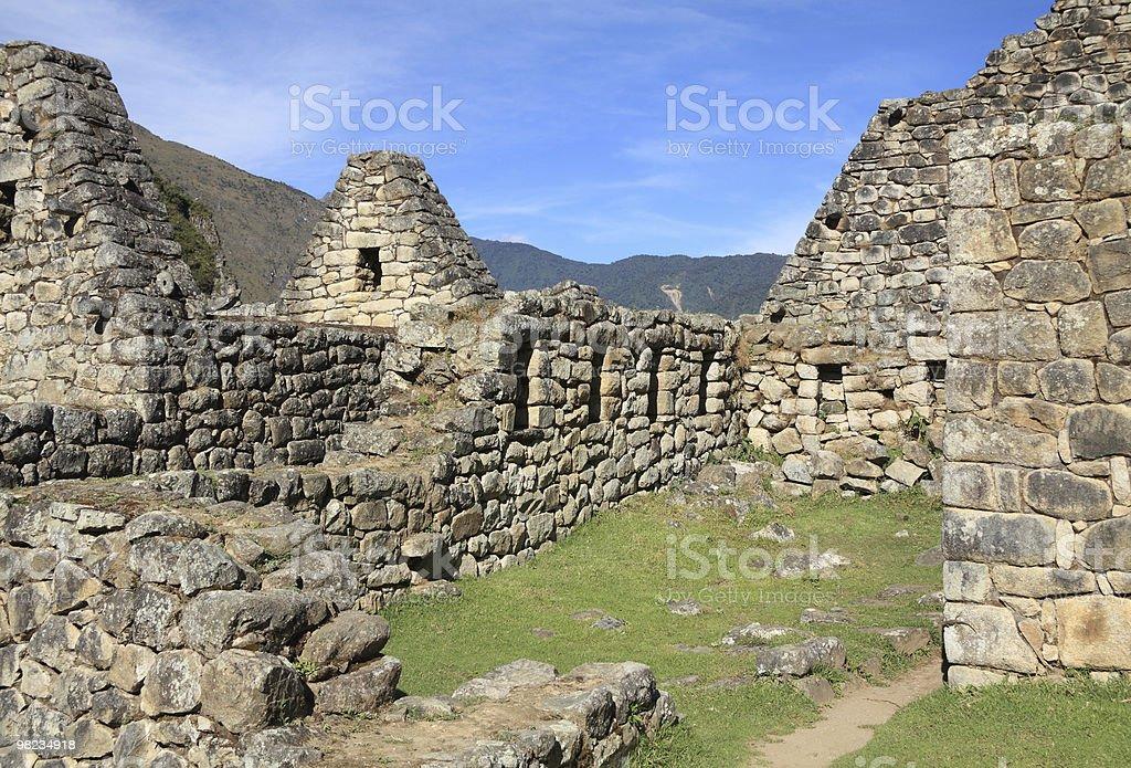 Machu Picchu ruins stock photo