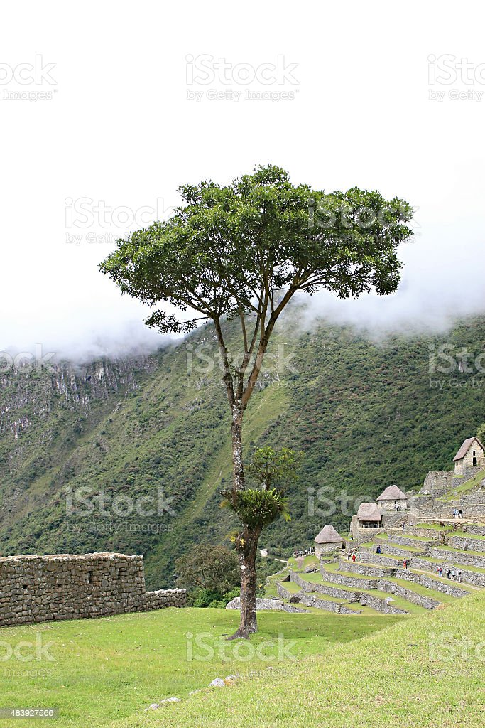 Machu Picchu Stonework stock photo