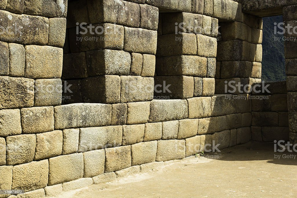 Machu Picchu, the ancient Inca city in Andes, Peru royalty-free stock photo
