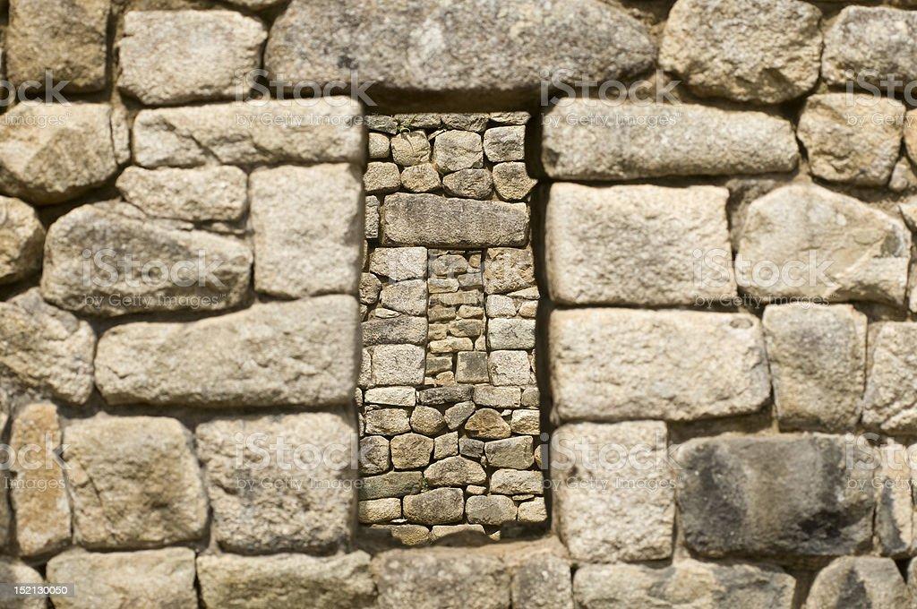 Machu Picchu fenêtre photo libre de droits