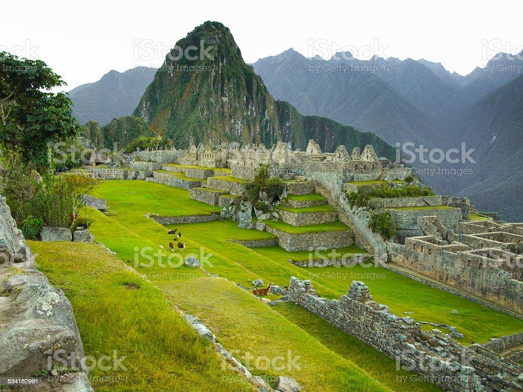 Machu Picchu without people stock photo