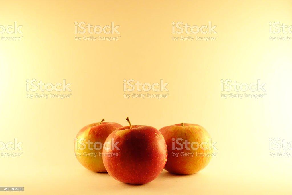 Macintosh apples. stock photo
