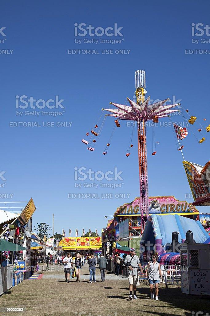 Mackay Australian Show Carnival Fair Fete Amusement Park Ride stock photo