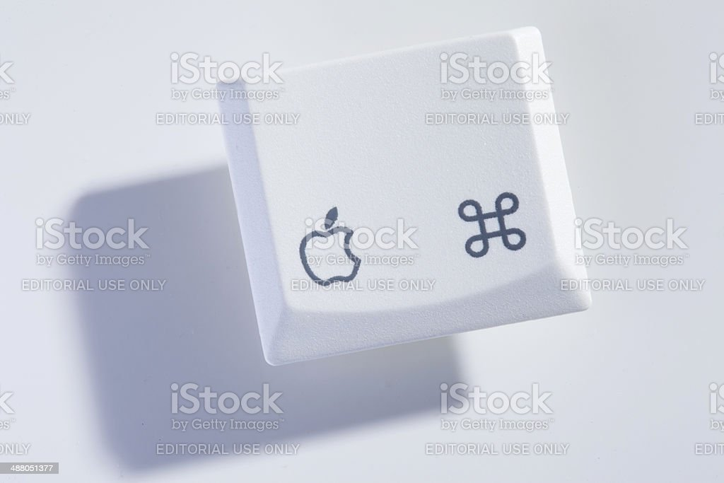 mackbook computer key stock photo