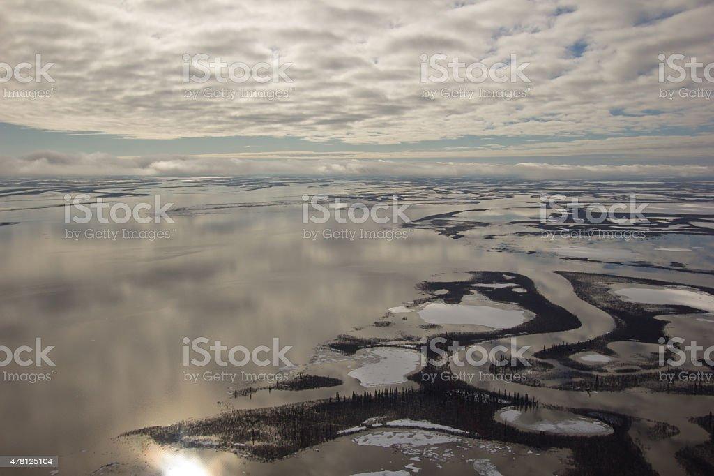 Mackenzie River Delta, NWT, Canada stock photo