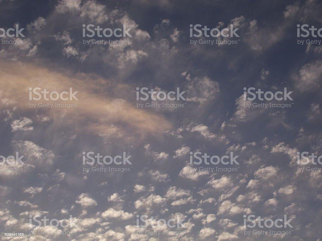 Mackerel Sky at Dusk, Andalucia royalty-free stock photo