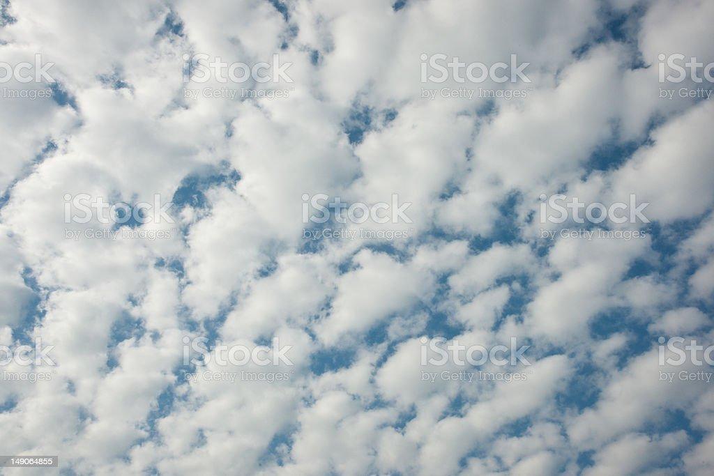 Mackerel sky royalty-free stock photo