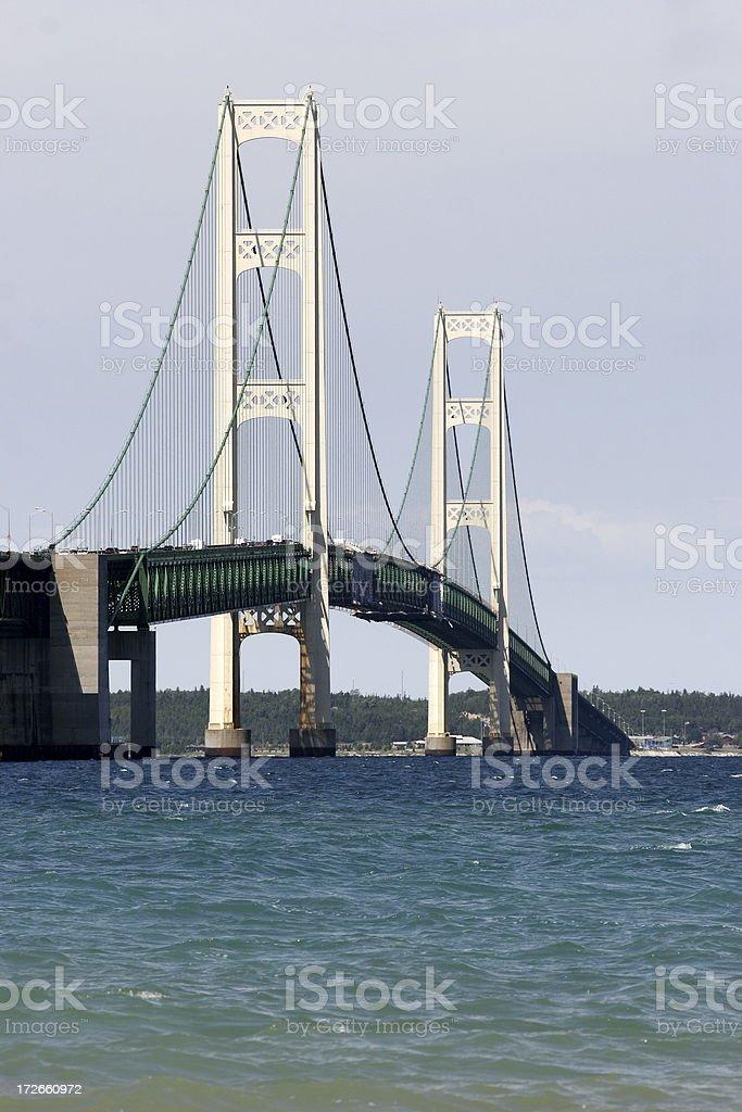 Mackinac Bridge from the south stock photo