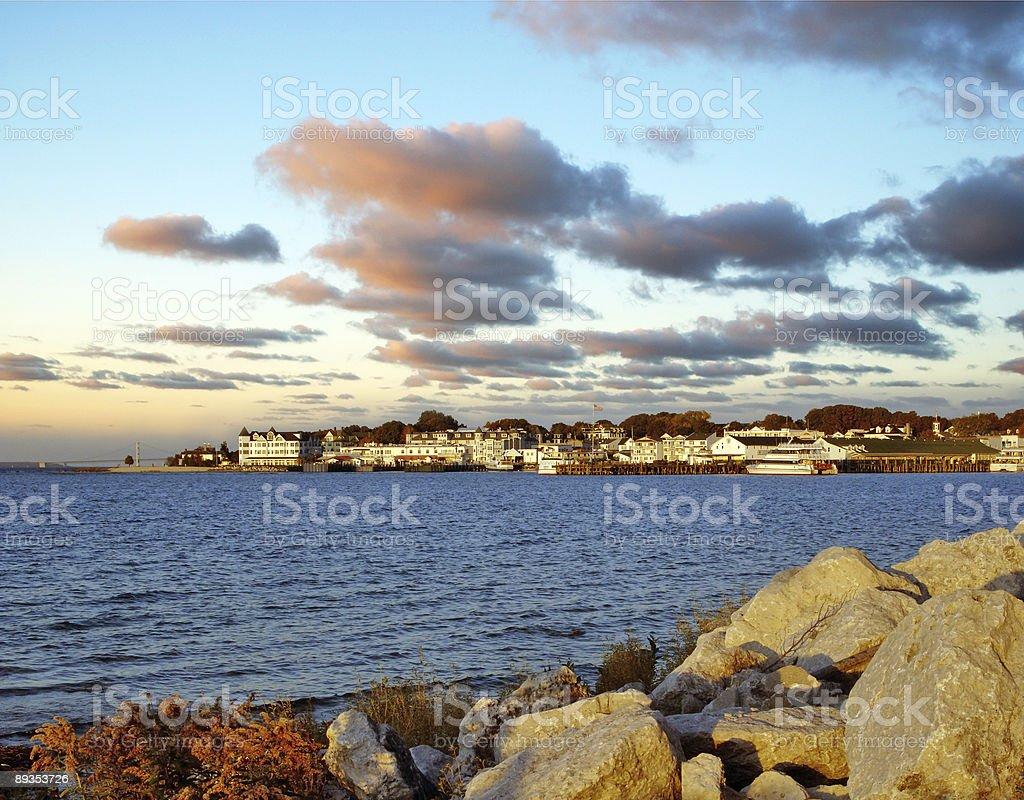 Mackinac Island Harbor, Michigan stock photo