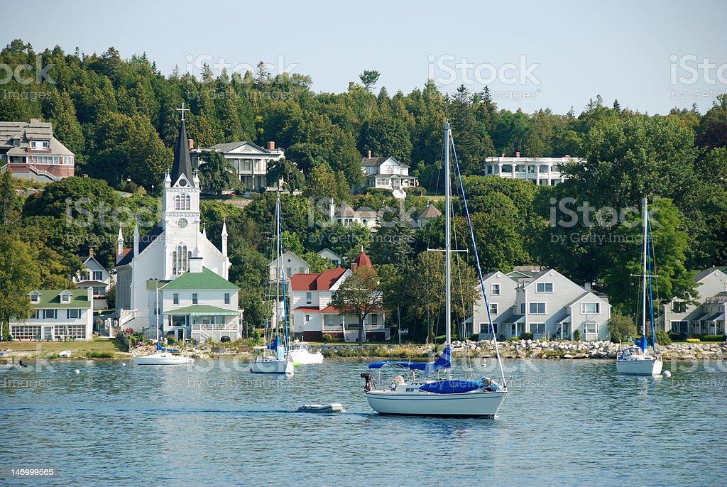 Mackinac Island Waterfront stock photo
