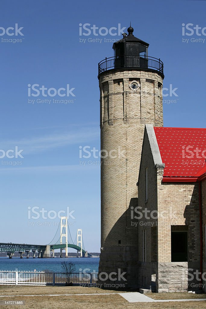 Mackinac Point Lighthouse stock photo
