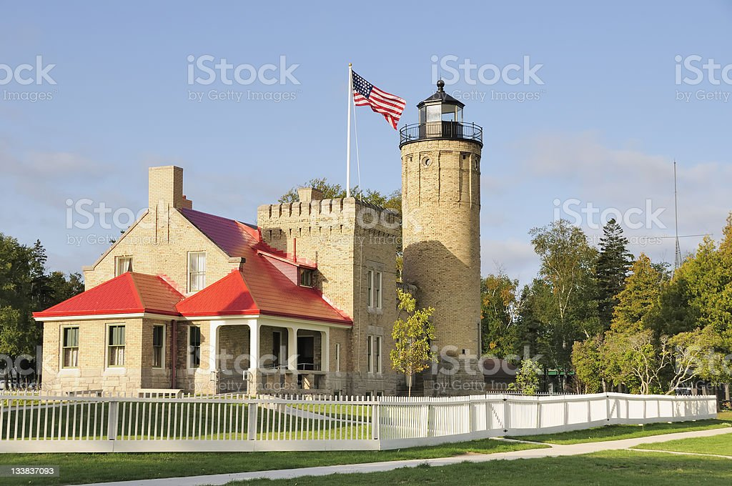 Mackinac Pointe Lighthouse stock photo
