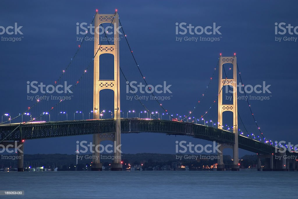 Mackinaw Bridge stock photo