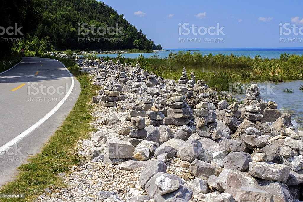 Mackinaw Island Highway stock photo