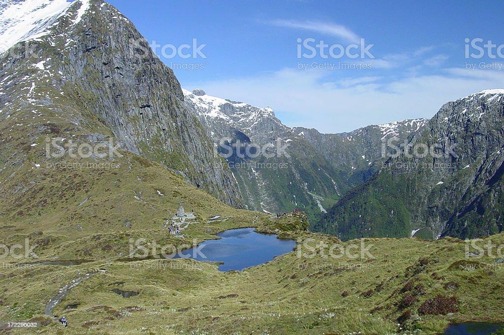 MacKinnon Pass. New Zealand stock photo