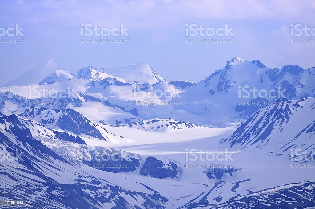 Maclarin Glaciers In The Clearwater Mountains By Denali Highway stock photo
