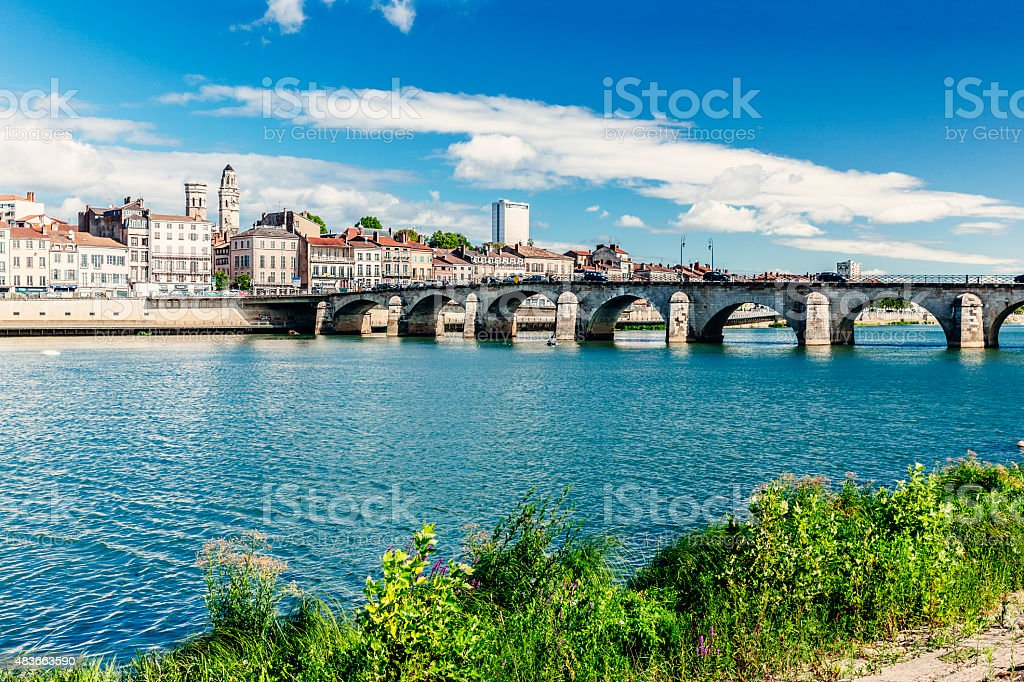 Macon in Burgundy, France stock photo