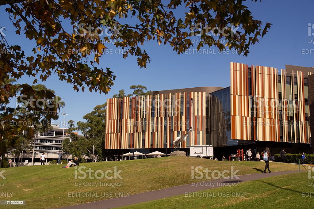 Macquarie University Library royalty-free stock photo