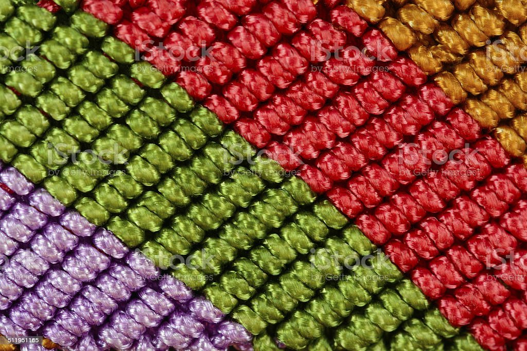 Macrame Macro Texture stock photo