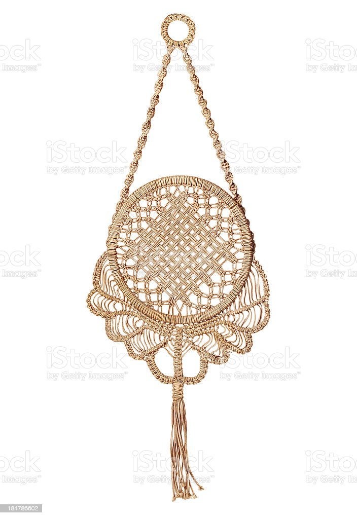 Macrame panels stock photo