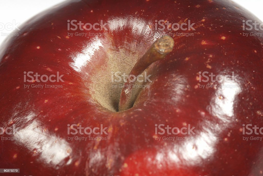 Macro Apple stock photo