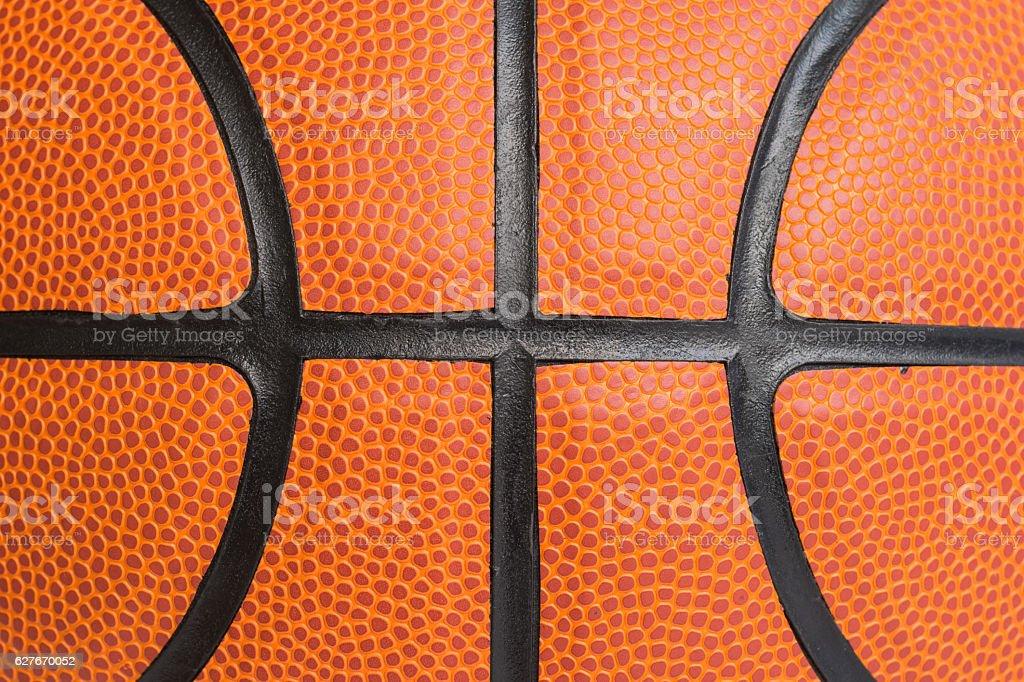 Macro basketball texture