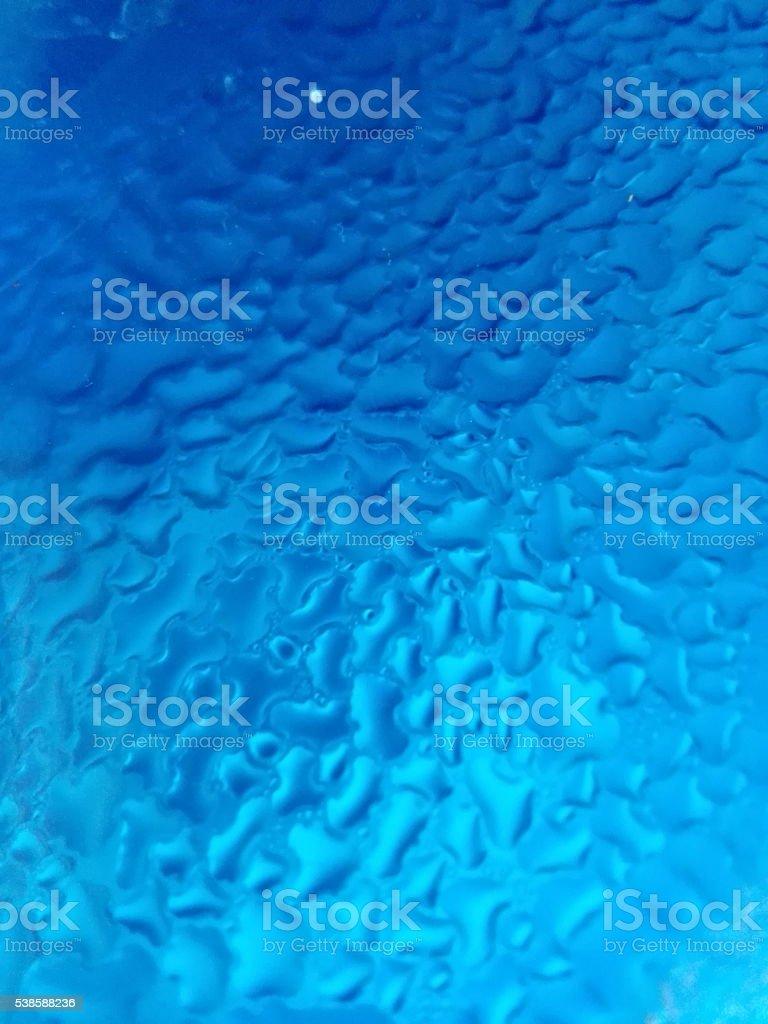 Macro Blue drops stock photo
