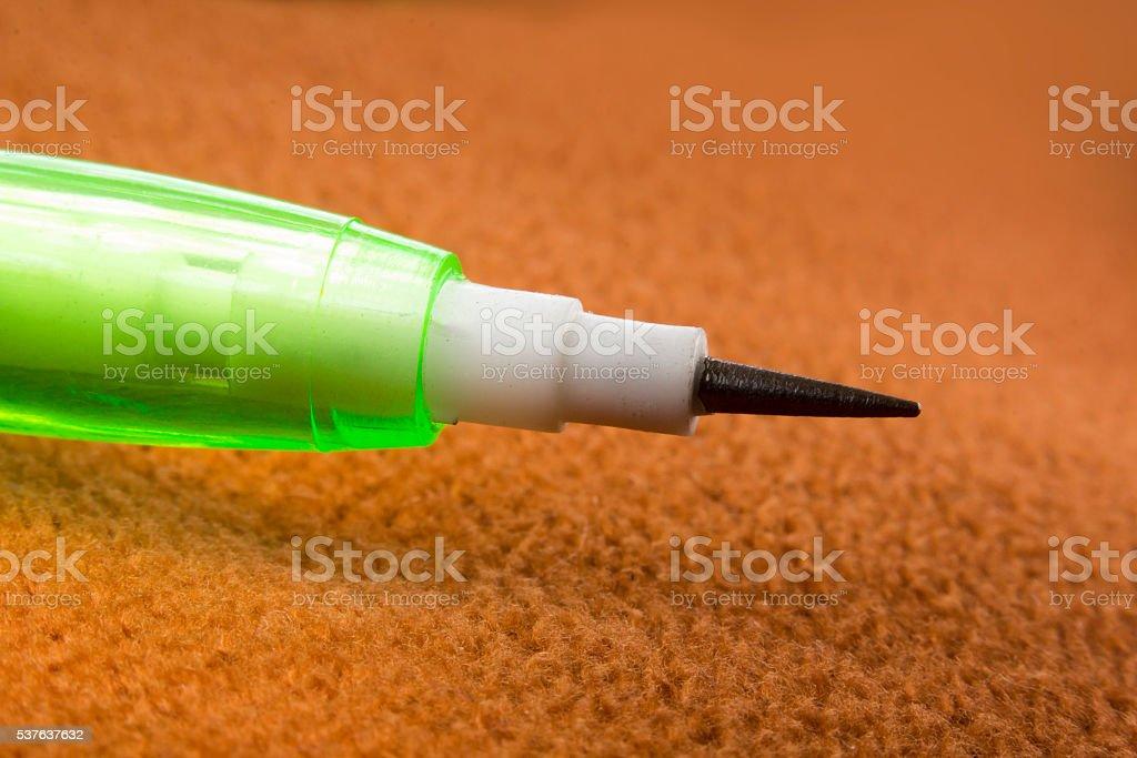 Macro Brick Pencil stock photo