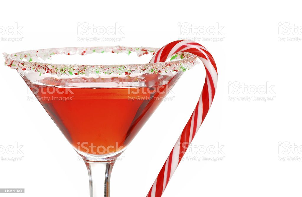 macro candy cane martini shallow DOF royalty-free stock photo
