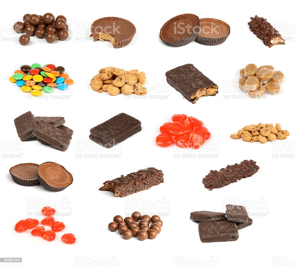 macro candy collection XXL stock photo