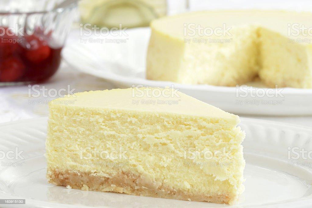 Macro cheesecake stock photo