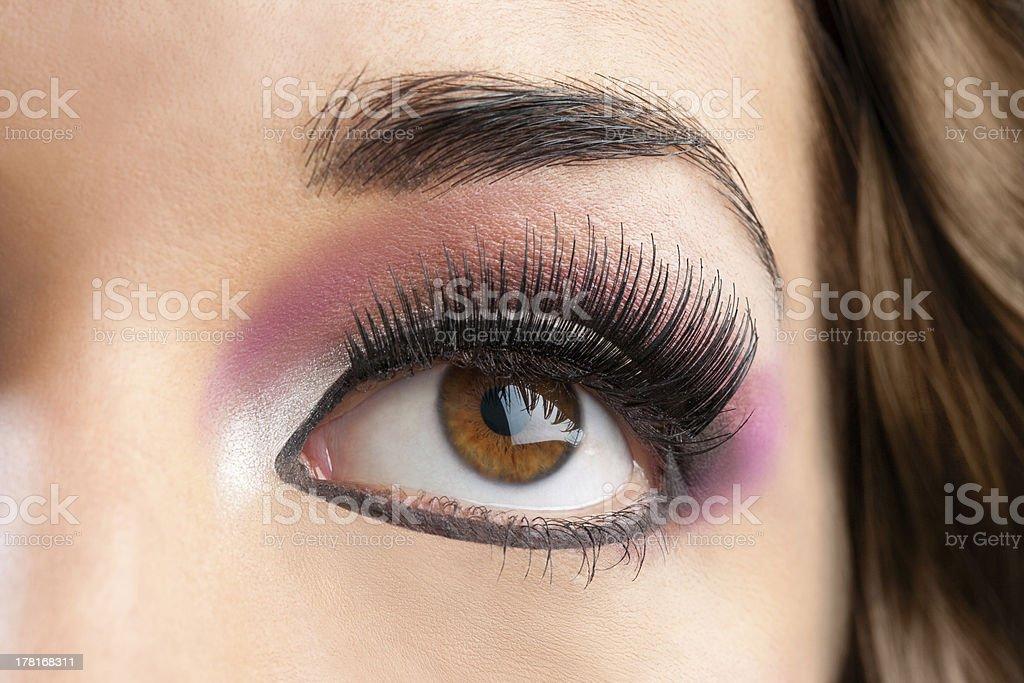 Macro Gros plan de femme les yeux. photo libre de droits