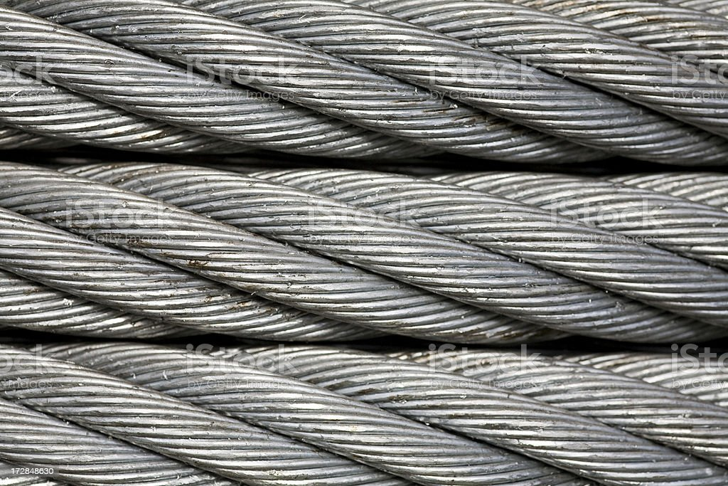 Macro close up of metal cable royalty-free stock photo