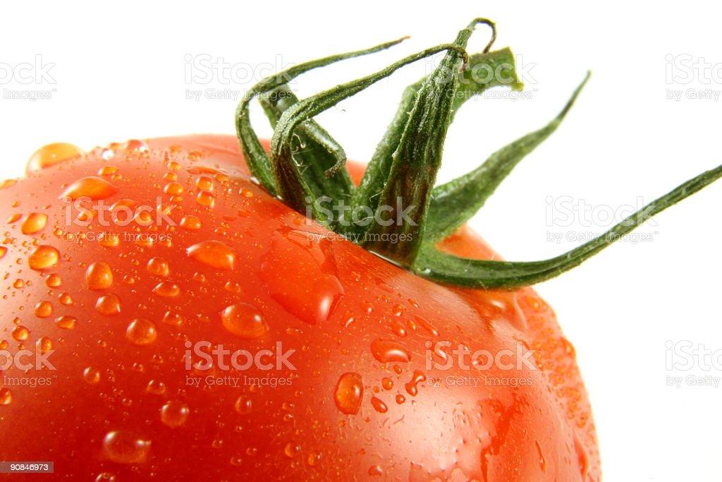 Macro Close-up of a tomato stock photo