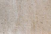 Macro closeup of burlap fabric texture