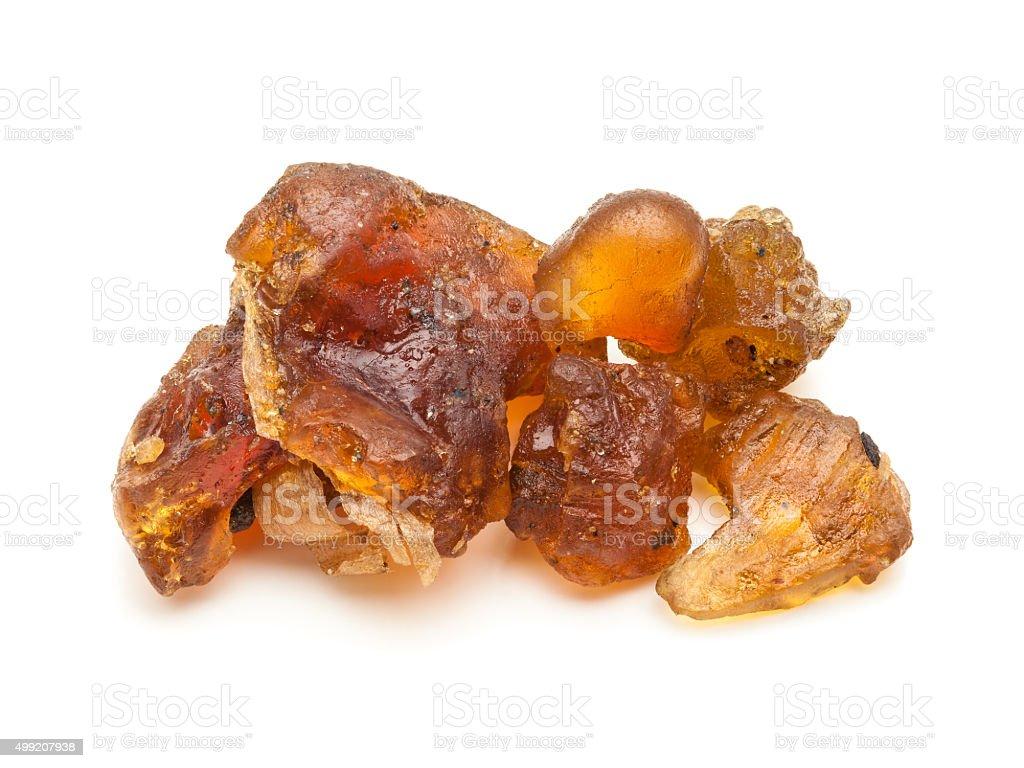 Macro closeup of Organic Indian bdellium. stock photo