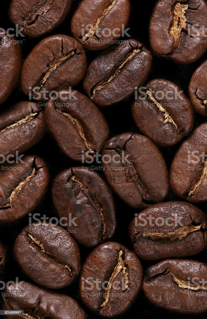 Macro coffebeans background stock photo