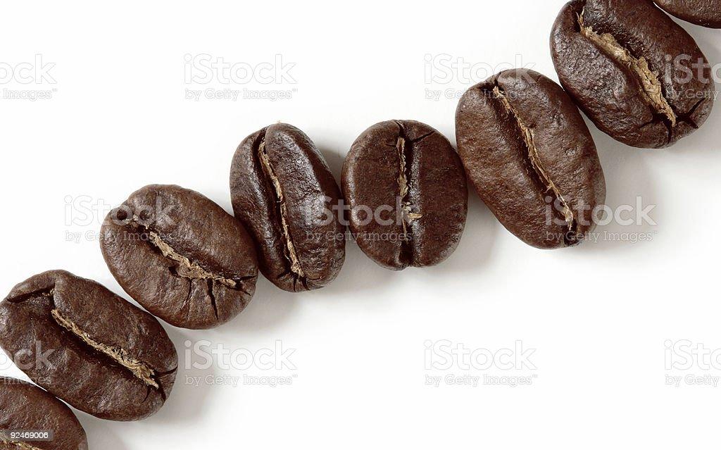 macro coffee beans isolated on white stock photo