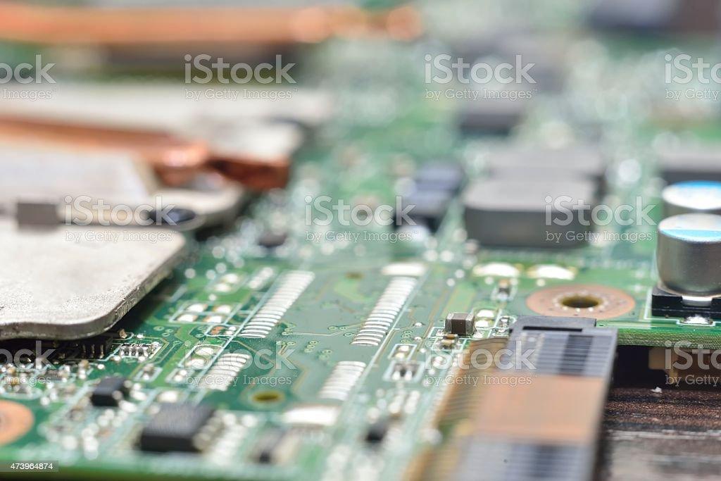 macro computer background blur stock photo
