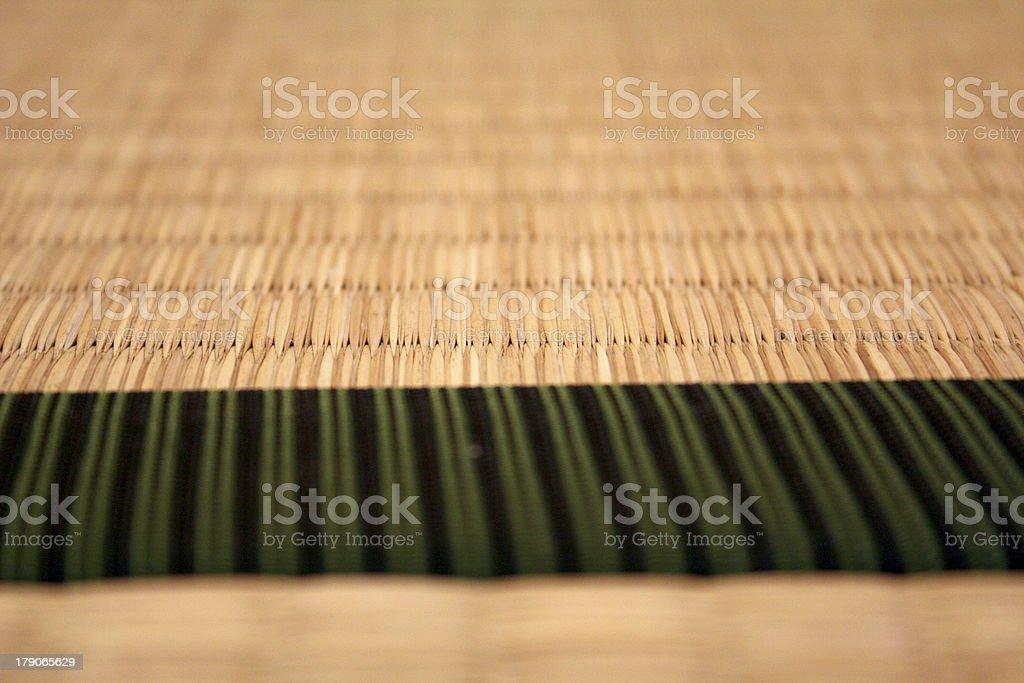 Macro detail of Japanese tatami (straw) mat stock photo