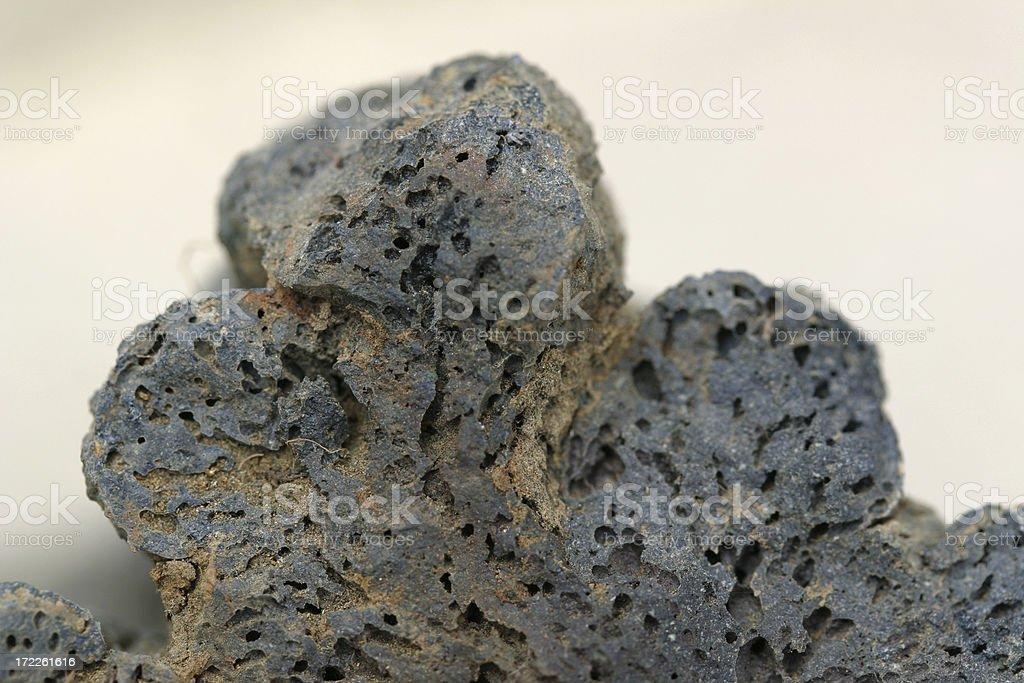 macro detail of vesicular Basalt lava rock stock photo