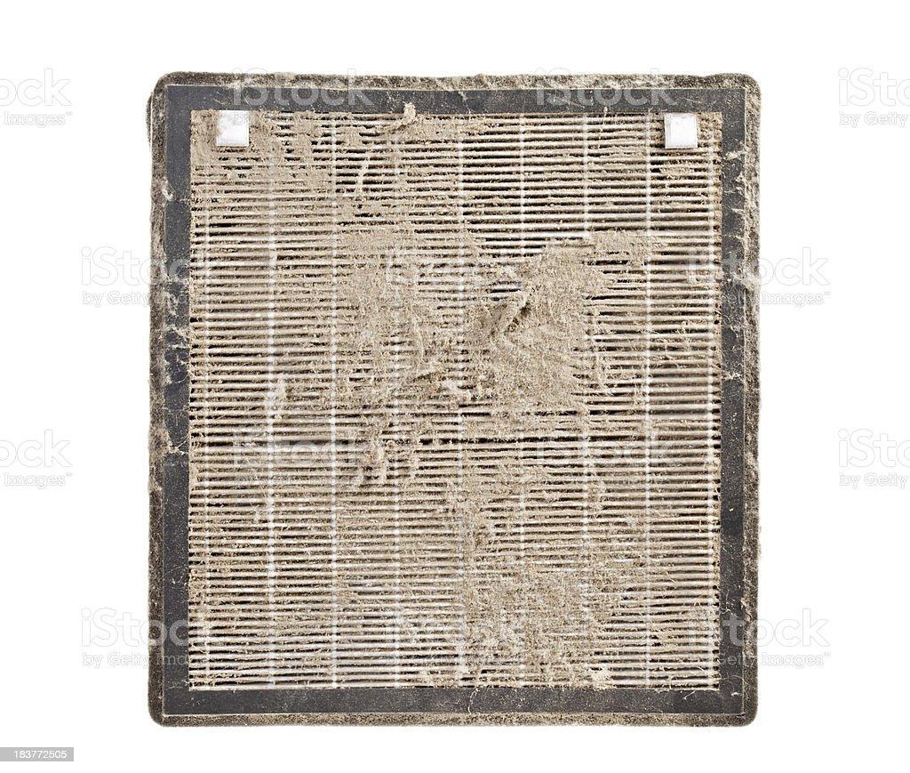 Macro Dirty Air Filter royalty-free stock photo