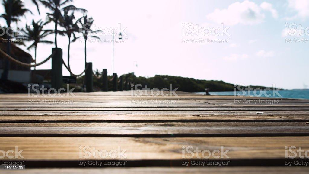 Macro Dock stock photo
