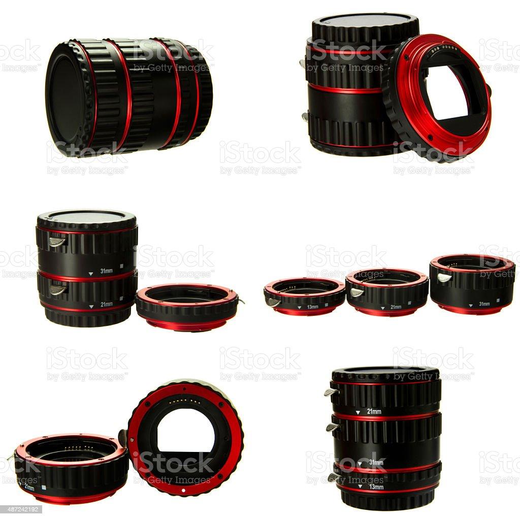 macro extender lens stock photo