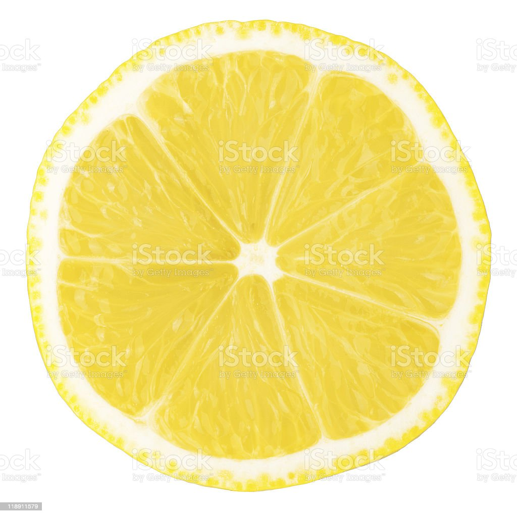 Macro food collection - Lemon slice stock photo