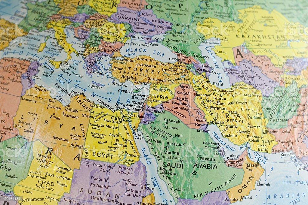 Macro Globe Map Detail stock photo