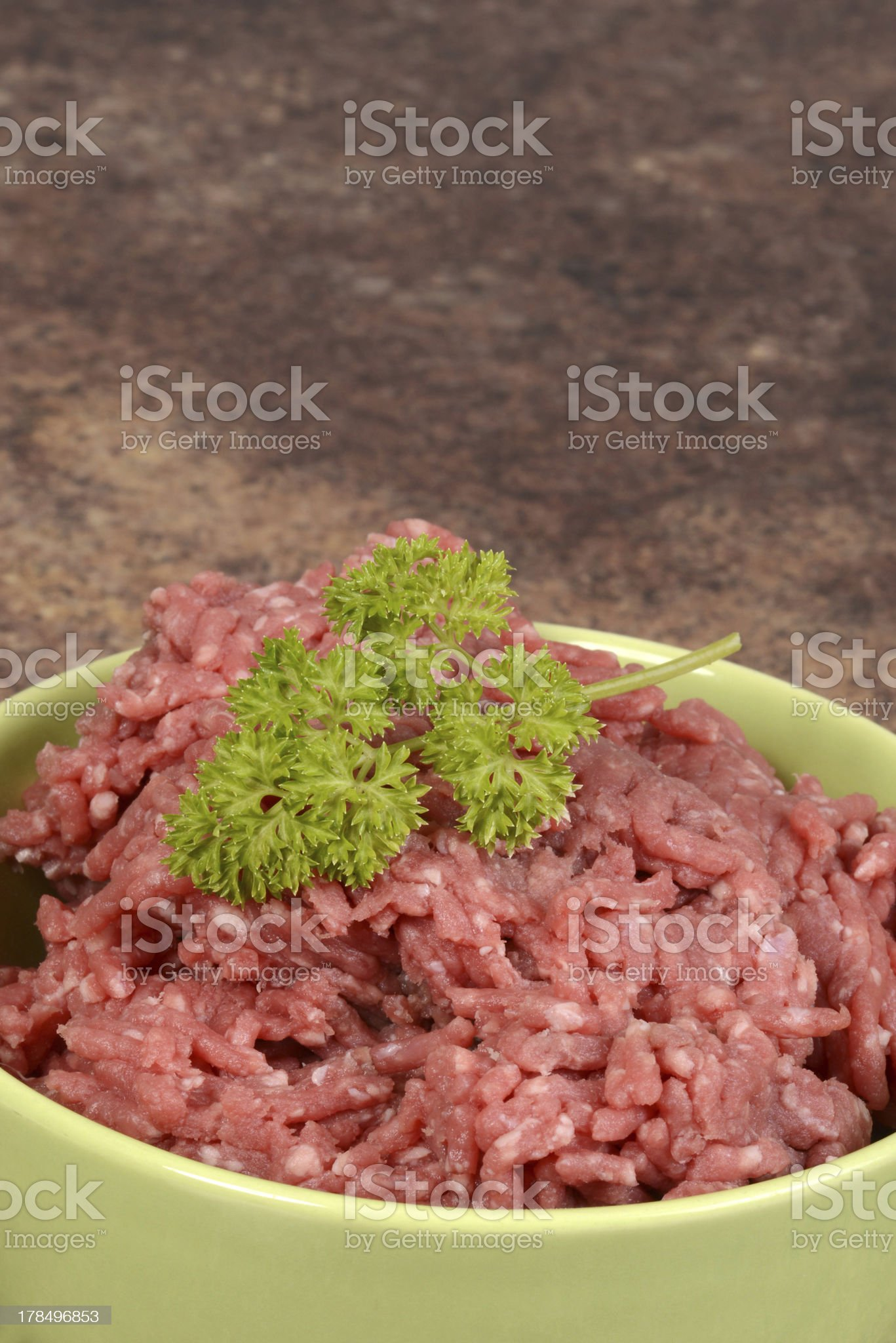 macro ground beef in bowl royalty-free stock photo